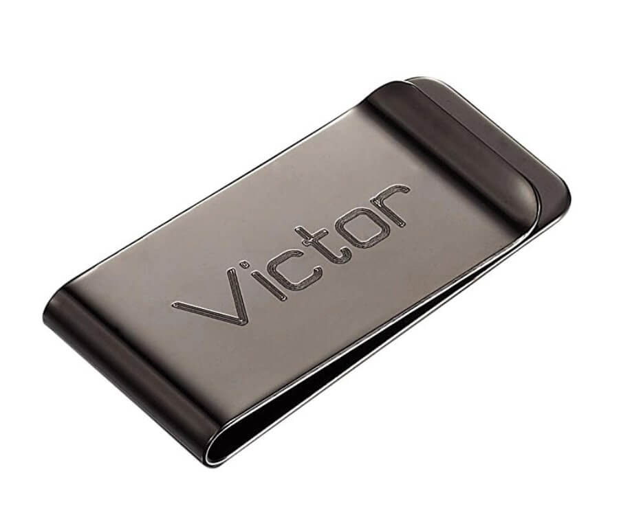 #17 Personalized Gifts for Him: laser engraved money clip