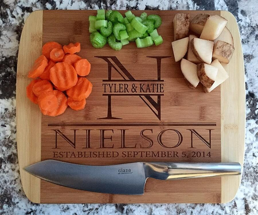 #6 Best Food gifts For Women: High Quality Jon Boos Personalized Cutting Board