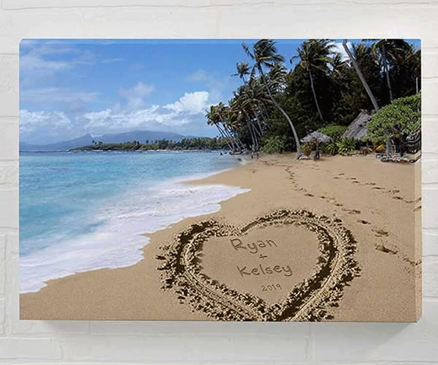 #31 Best Sentimental Gifts for her: Personalized Beach Canvas