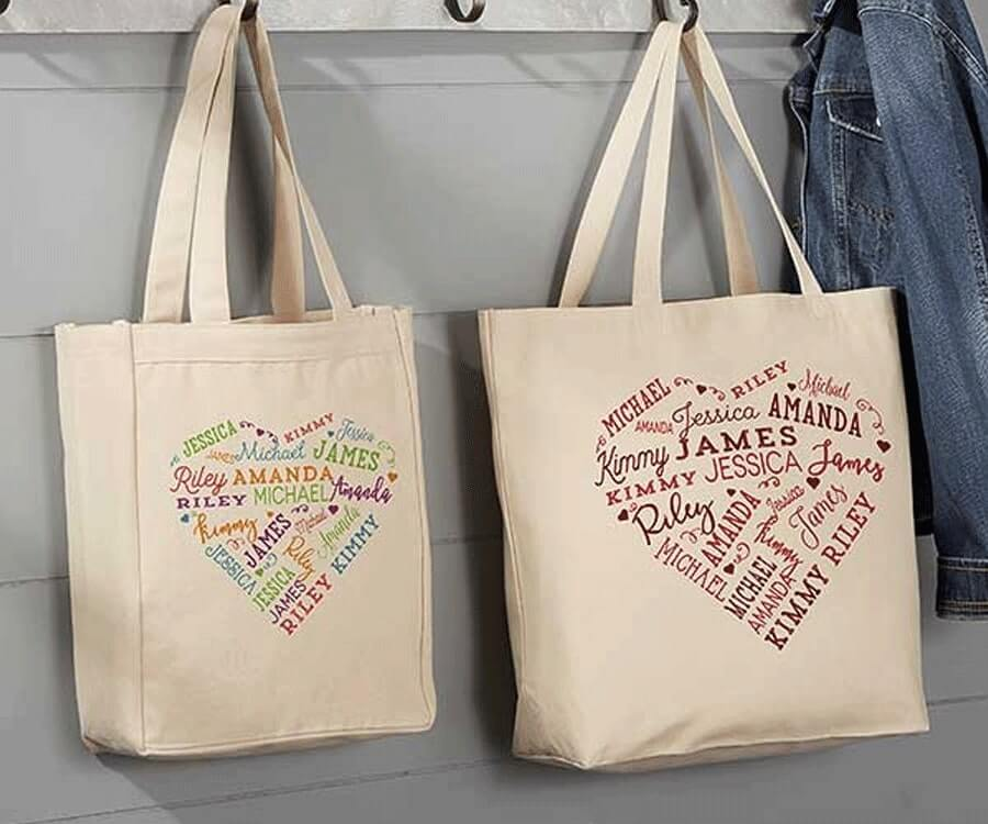 #28 Best Sentimental Gifts for Her: Heart Tote Bag