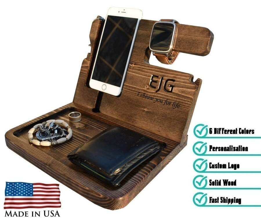 #10 Personalized Gifts for Him: Mens Accessory Station