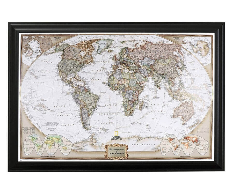 #26 great retirement gifts for men: push pin travel map