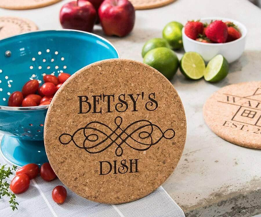 #16 Heartwarming Gifts for Her: Personalized Trivet Set