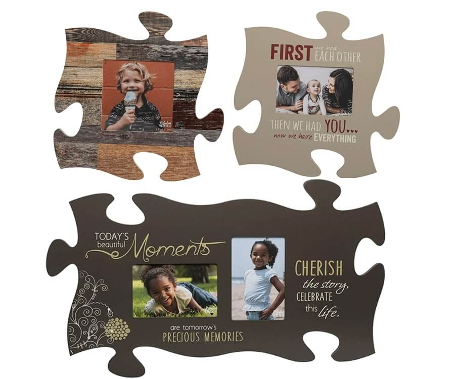 #3 Great Sentimental Gifts For: puzzle piece photo frames