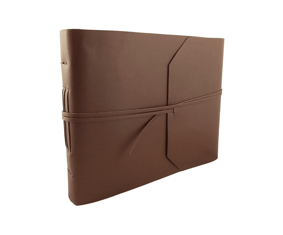 #24 great retirement gifts for men: leather scrapbook