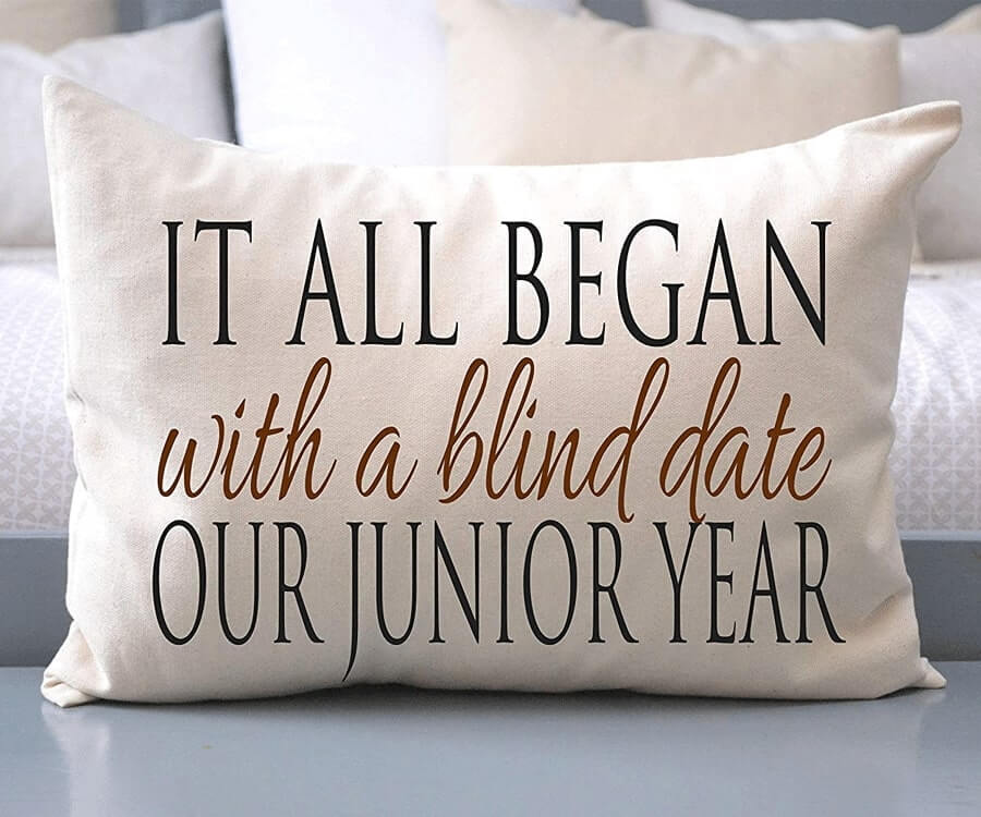 #5 Great Sentimental Gifts for Her: A Where It all began personalized pillow