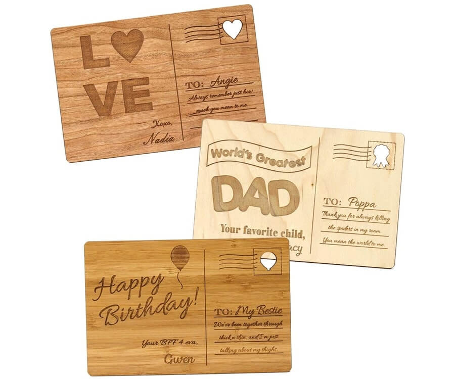 #24 Touching Gifts for Women: Wooden Postcard