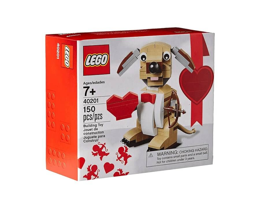 #34 best valentines day gifts for girlfriend: Lego Cupid Dog