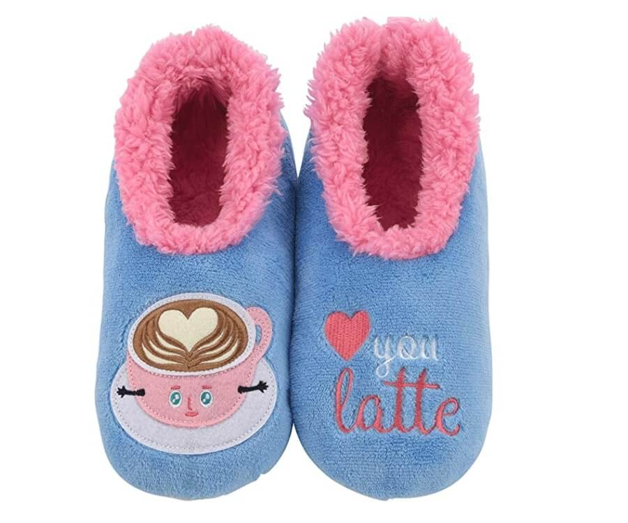 #21 best valentines day gifts for wife or girlfriend: Love You Latte Slippers