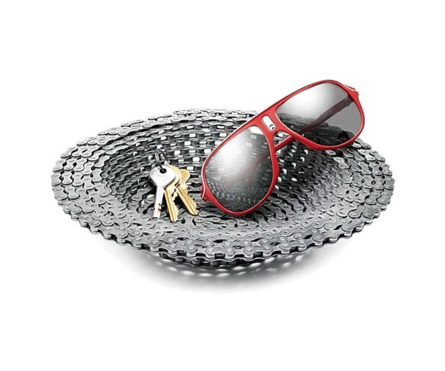 #5 eco friendly gifts for her: bike chain bowl