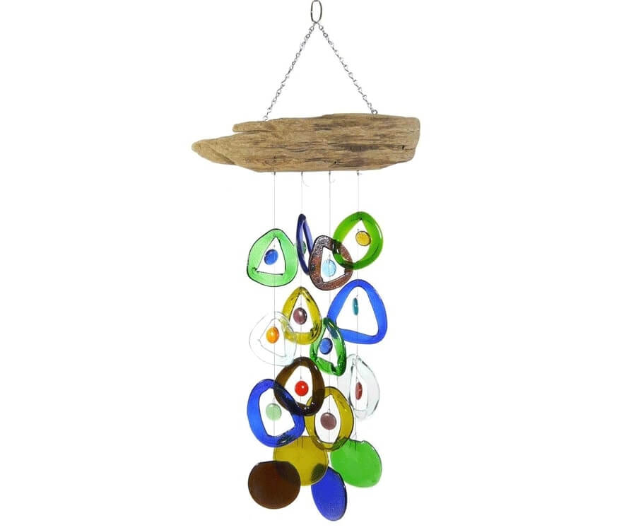 #6 eco friendly gifts for her: driftwood & recycled glass chime