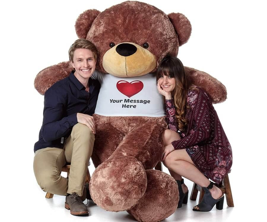 #28 best valentines day gifts for girlfriend: giant personalized teddy bear