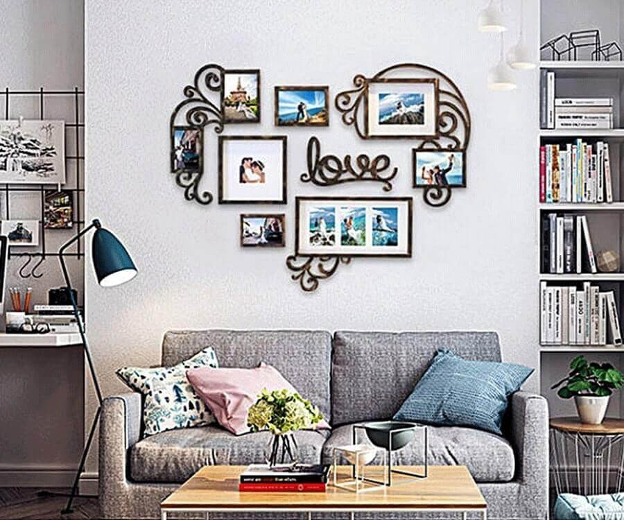 #19 best valentines day gifts for her: heart collage photo frames