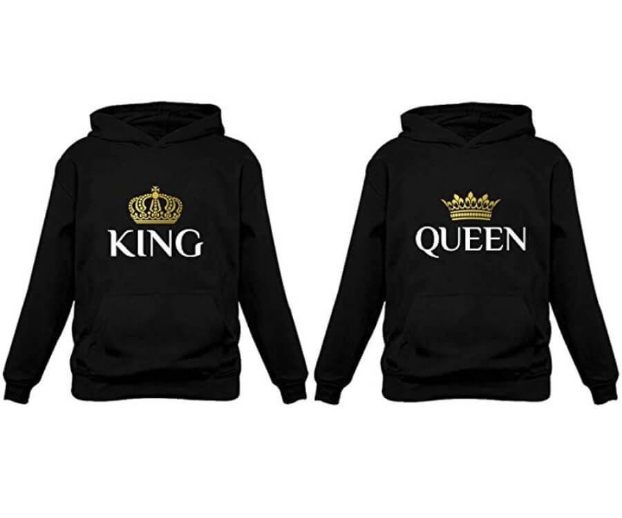 #24 best valentines day gifts for her: matching hoodies