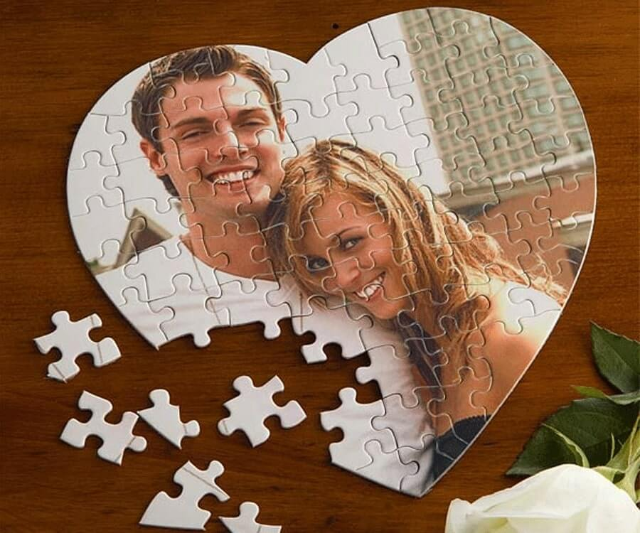 #29 best valentines day gifts for her: personalized photo puzzle