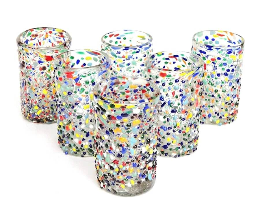 #10 eco friendly gifts for her: recycled confetti glasses