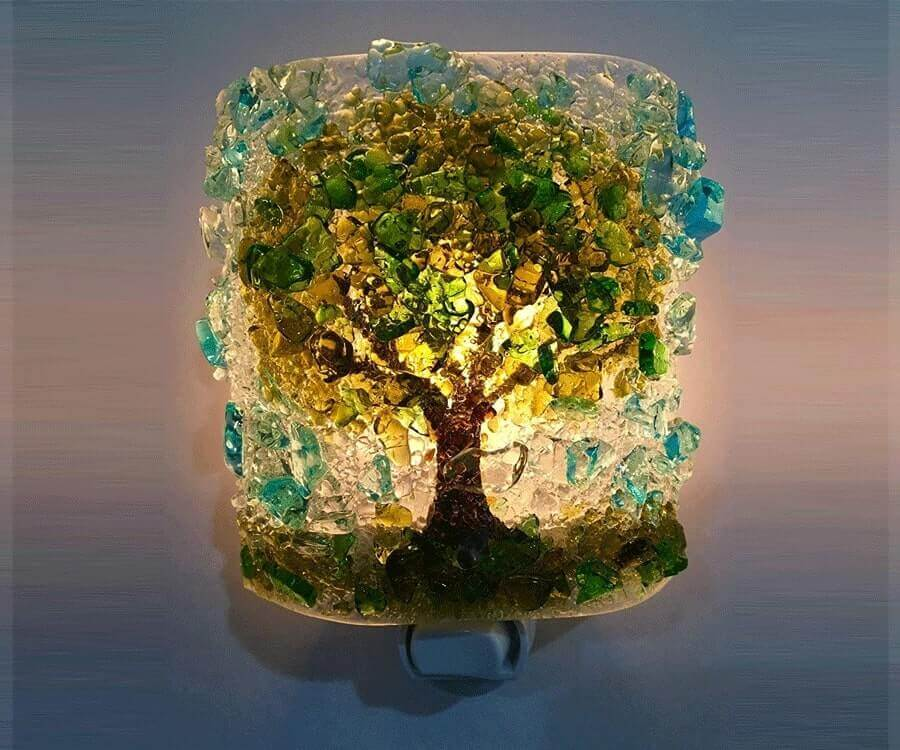 #18 eco friendly gifts for her: mosaic light cover