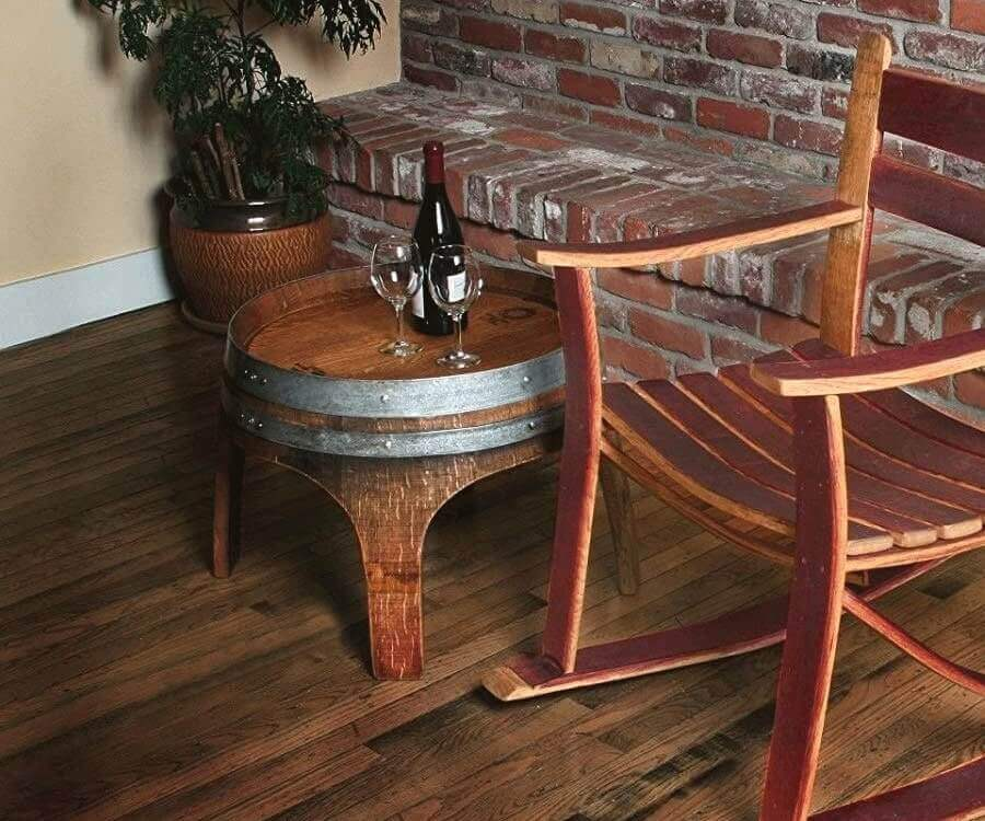 #8 eco friendly gifts for her: wine barrel side table