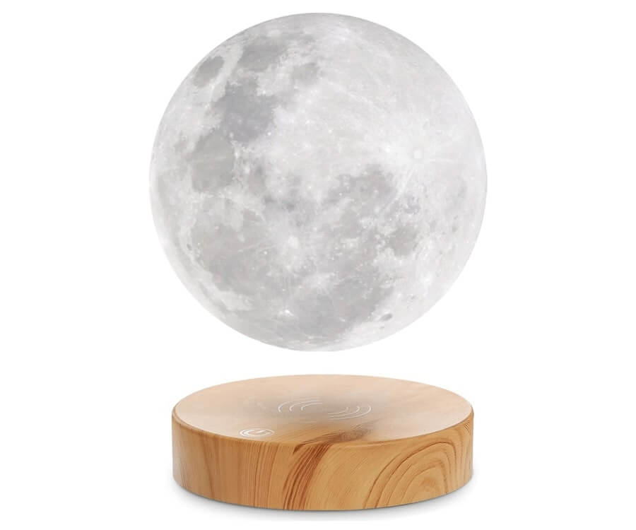 #17 gifts for the woman who has everything: levitating moon lamp