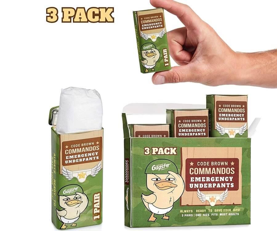 #20 best adult gag gift: code brown emergency underpants