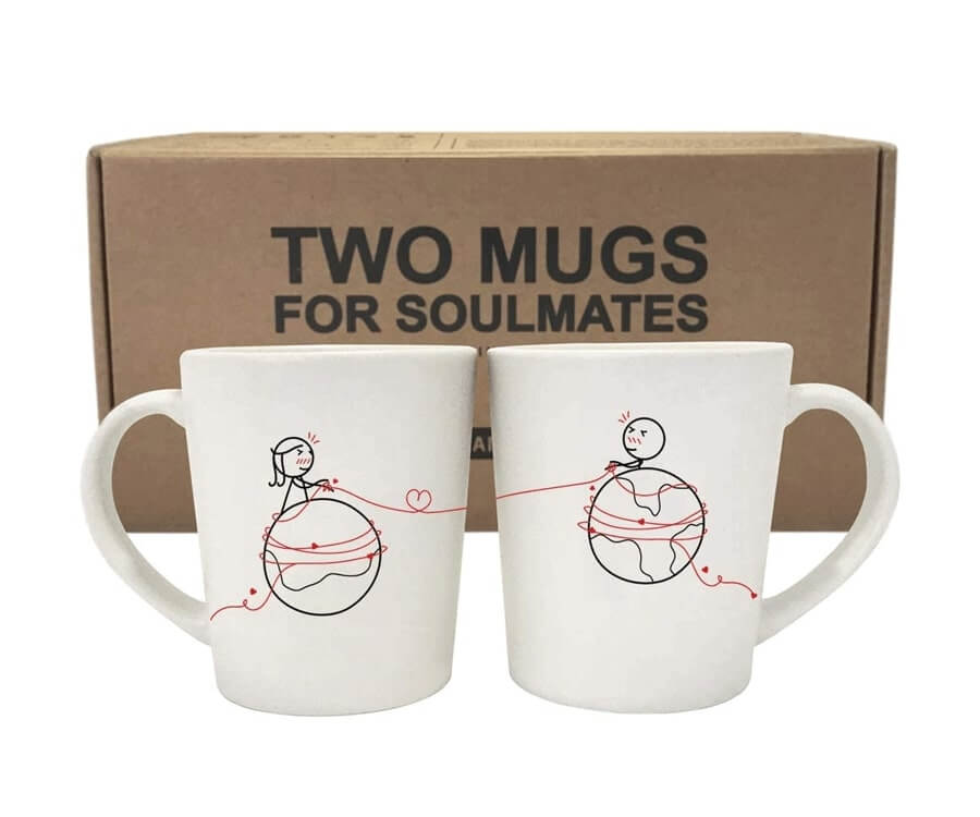 #8 best gifts for long distance boyfriends: miles apart mugs