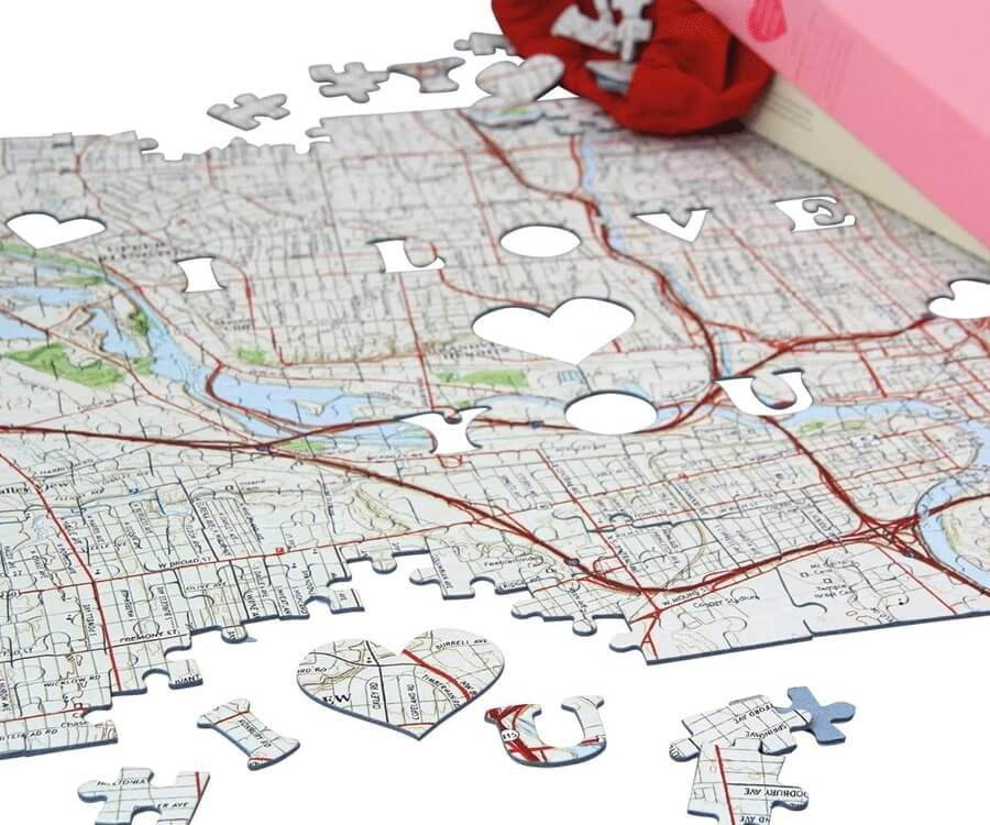 #21 best gifts for long distance boyfriends: where we met puzzle
