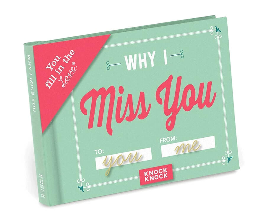 #30 best gifts for long distance boyfriend: why I miss you book