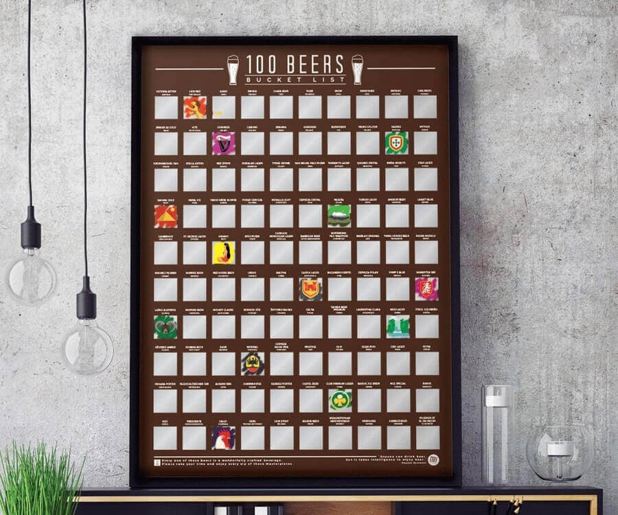 #23 great retirement gifts for men: scratch off beer list