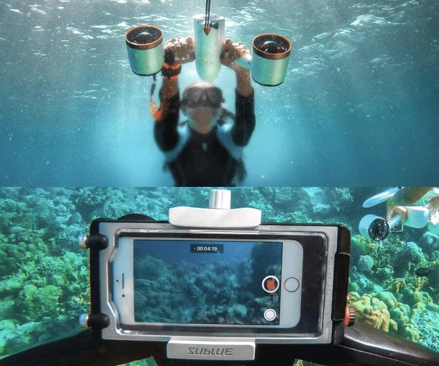 #1 cool gadgets for men: underwater scooter & camera