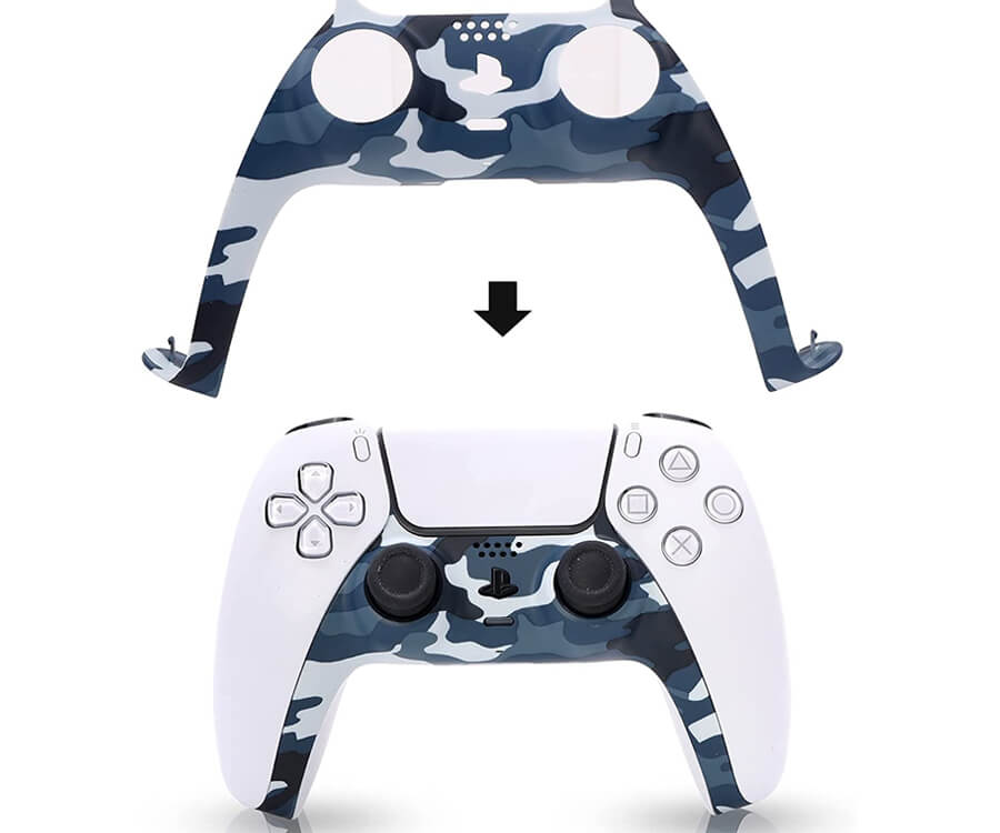 #12 best gifts for gamer boyfriend: Playstation 5 Green Camouflage Controller Plate