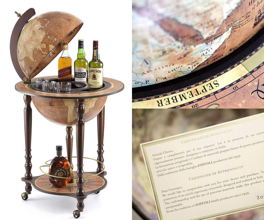 #28 luxury gifts for men who have everything: Globe Bar